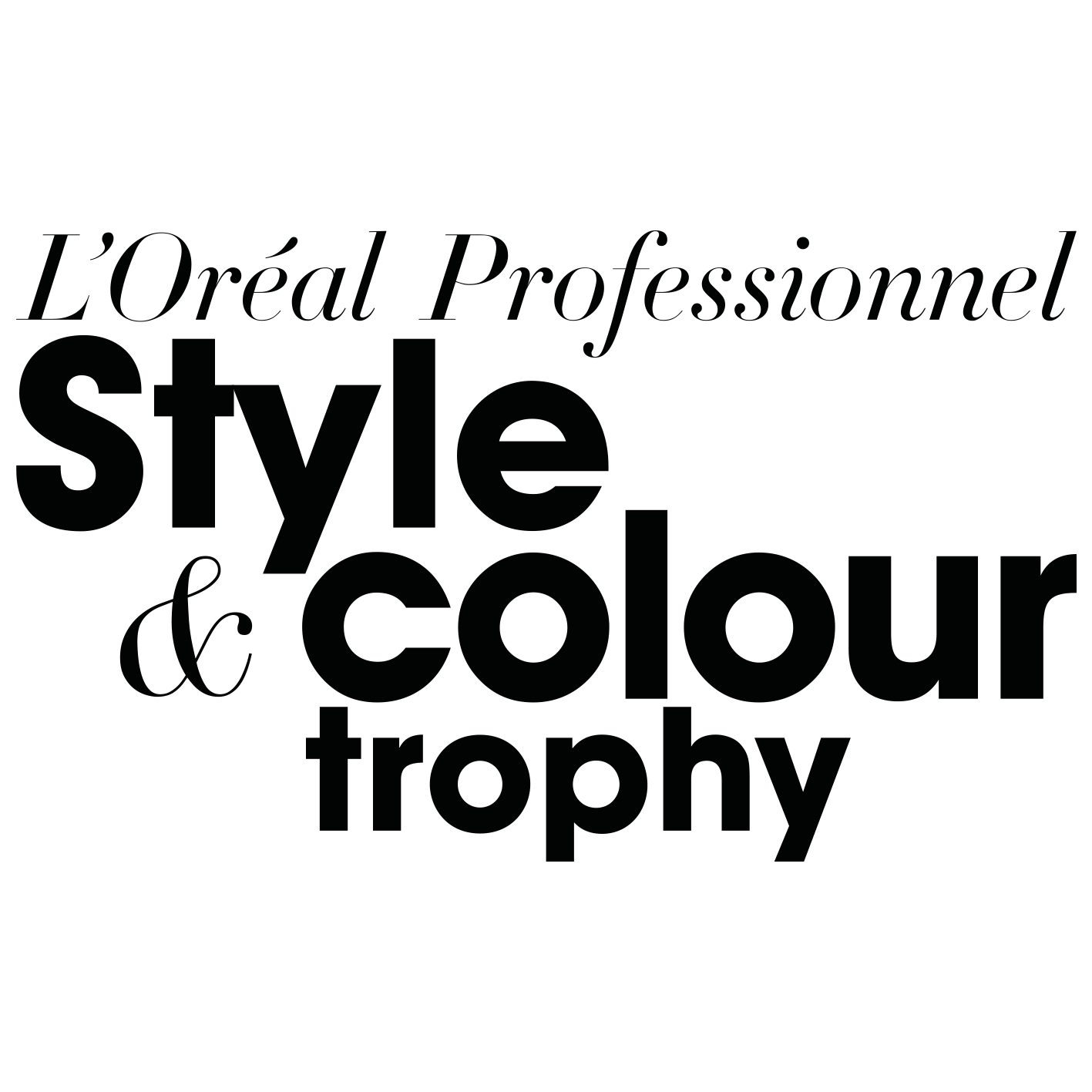 loreal professionnel style and colour trophy logo