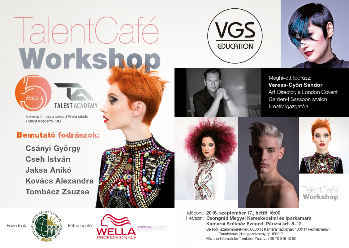 Wella Talent Cafe Tombacz Zsuzsa